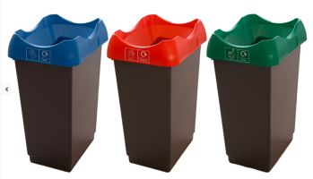Recycling Bins - 30 Litre Light Grey Base