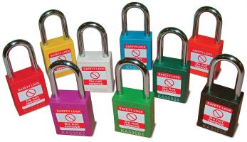 Nylon Body Safety Padlock - Red