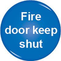 Fire door keep shut domed acrylic sign 60mm Acrylic Safety Sign