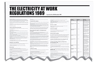 840x570mm The Electricity at Work Regulation 1989 Wallchart