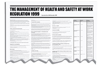 840x570mm The Management of Health   Safety at Work Regulation 1999 Wallchart