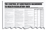 840x570mm COSHH Regulation 1989 Wallchart