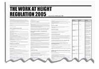 840x570mm The Work at Height Regulation 2005 Wallchart
