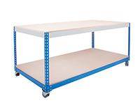 H. D. Mobile Workbench  Full Under Shelf  Total Workbench Capacity - 300kgs. Chipboard 915mm Wide
