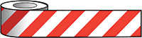 Reflective Self Adhesive Tape - 100mm x 25m Red   White