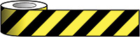 Reflective Self Adhesive Tape - 100mm x 25m Black   Yellow