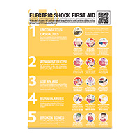 A2 Electric Shock Guidance Poster