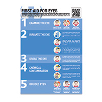 A2 First Aid For Eyes Guidance Poster