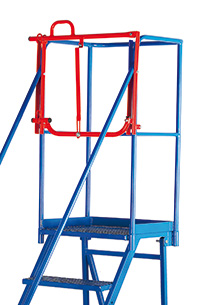 Fort Tilt  N  Push Steps - Optional Retro-fit Lifting Barrier - Galvanised