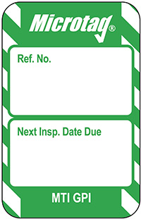 Scafftag Microtag Next Inspection Date Inserts Green Pack of 20