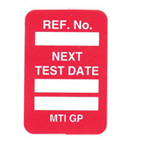 Scafftag Microtag Next Inspection Date Inserts Red Pack of 20