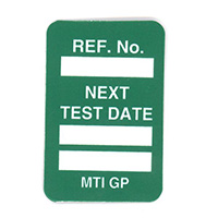 Scafftag Microtag Next Test Date Inserts Green Pack of 20