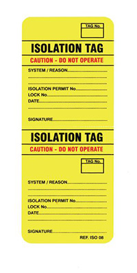 Scafftag Isotag Isolation Tag Pack of 50