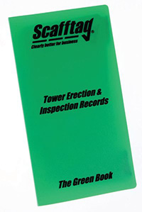 Scafford Erection   Inspection Book - Green