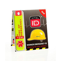 Worker Emergency ID Tag without window