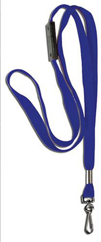 Plain  Breakaway  Badge Lanyards - Blue  10