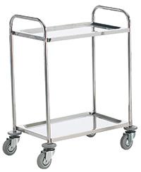 Stainless Steel Shelf Trolley - 2 Shelf