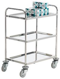 Stainless Steel Shelf Trolley - 3 Shelf