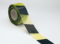 Economy Barricade Tape - 75mm x 100m Yellow   Black