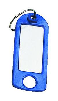 Key Tags with Hanging Hole Pk of 25 - Blue