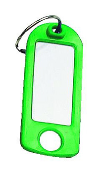 Key Tags with Hanging Hole Pk of 25 - Green