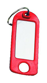Key Tags with Hanging Hole Pk of 25 - Red