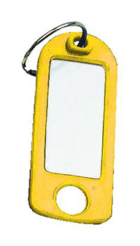 Key Tags with Hanging Hole Pk of 25 - Yellow