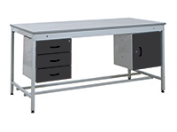 Taurus Utility Workbenches - Bench  Triple Drawer and Cupboard - 1500 x 900