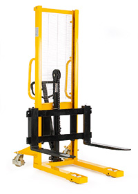 Hydraulic Stackers - Fork Type - Adjustable - 1000kg Capacity - 1600mm Lift Height