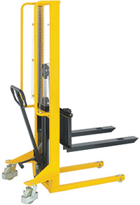 Hydraulic Stackers - Fork Type - Adjustable - 500kg Capacity - 1600mm Lift Height