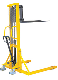 Hydraulic Stackers - Fork Type - Straddle - 1000kg Capacity - 1600mm Lift Height