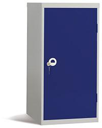 Workplace Storage Cupboard - No Rail - 2 Doors - Dark Blue - 910 x 457 x 457mm  HxWxD