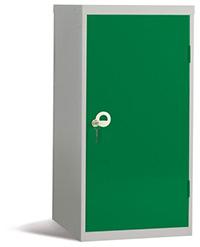 Workplace Storage Cupboard - No Rail - 2 Doors - Green - 910 x 457 x 457mm  HxWxD