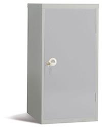 Workplace Storage Cupboard - No Rail - 2 Doors - Grey - 910 x 457 x 457mm  HxWxD