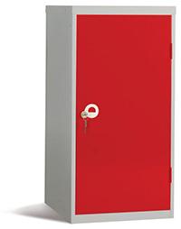 Workplace Storage Cupboard - No Rail - 2 Doors - Red - 910 x 457 x 457mm  HxWxD