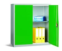 Workplace Storage Cupboard - No Rail - 2 Doors - Green - 1000 x 915 x 457mm  HxWxD