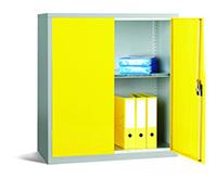 Workplace Storage Cupboard - No Rail - 2 Doors - Yellow - 1000 x 915 x 457mm  HxWxD