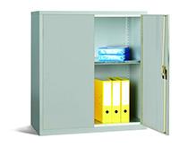 Workplace Storage Cupboard - With Rail - 2 Doors - Grey - 1000 x 915 x 457mm  HxWxD