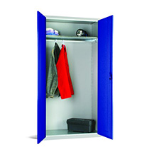 Workplace Storage Cupboard - No Rail - 1 Door - Dark Blue - 1830 x 915 x 457mm  HxWxD