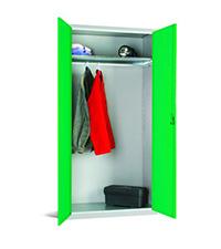 Workplace Storage Cupboard - No Rail - 1 Door - Green - 1830 x 915 x 457mm  HxWxD