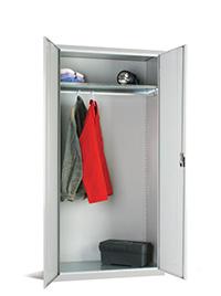 Workplace Storage Cupboard - No Rail - 1 Door - Grey - 1830 x 915 x 457mm  HxWxD