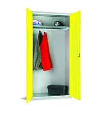 Workplace Storage Cupboard - No Rail - 1 Door - Yellow - 1830 x 915 x 457mm  HxWxD