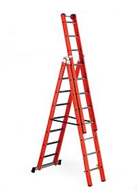 VW - Glass Fibre Ladder  No of Rungs  3 x 10