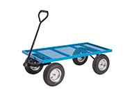 Platform Truck With Puncture Proof Reach Compliant Wheels - Mesh Base
