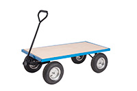 Platform Truck With Puncture Proof Reach Compliant Wheels - Plywood Base