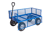 Platform Truck With Puncture Proof Reach Compliant Wheels - Mesh Sides/Base