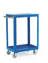 Reversible Blue 3 Tray Trolley - 670 X 400