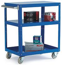 Reversible Blue 3 Tray Trolley - 820 X 500