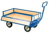 Prime Heavy Duty Turnable Truck with Brake - 4 Sided