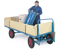T/Table Truck C/W Sides/Ends - Plywood - 1000Kg - 2000 X 1000 - Pneumatic